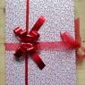 Piros-fehér vendégkönyv